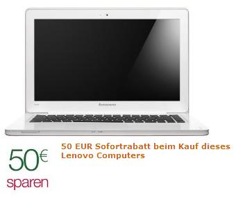 Amazon Gutschein + 50 Euro Rabatt auf Lenovo