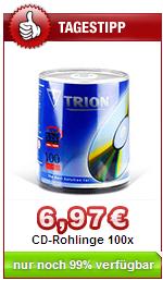 DruckerZubehör Schnäppchen - 100 CD Rohlinge sehr billig
