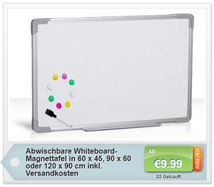 Whiteboard-Magnettafel für Notizen