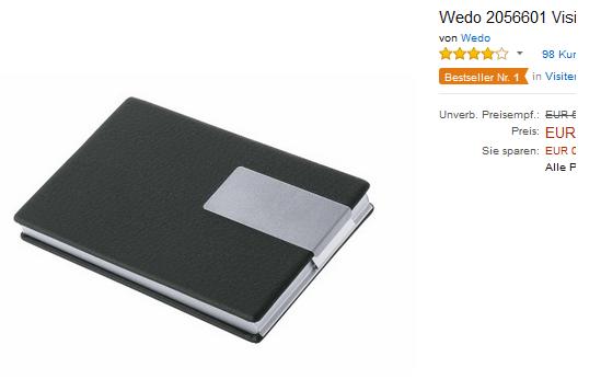 WEDO Visitenkartenbox Good Deal billig & versandkostenfrei