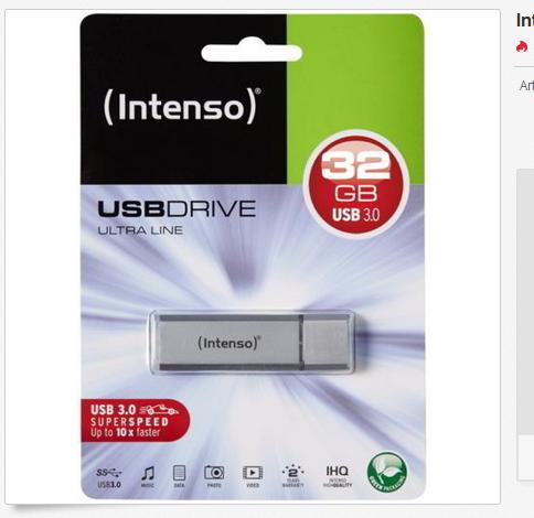 32 GB Intenso Ultra Line USB Stick: billig & versandkostenfrei, schnell bestellen!