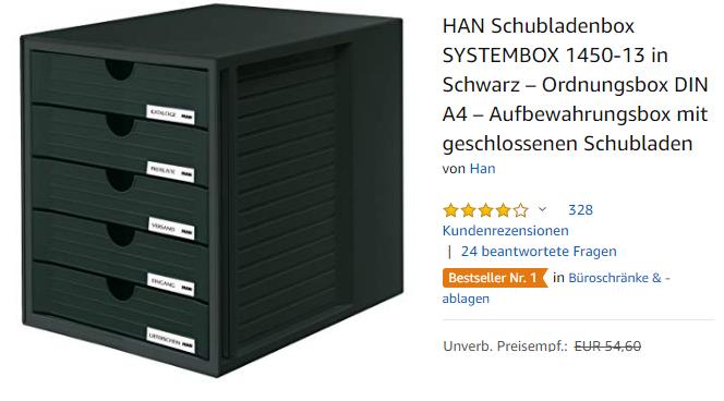 HAN Schubladenbox SYSTEMBOX 1450-13 Ordnungsbox